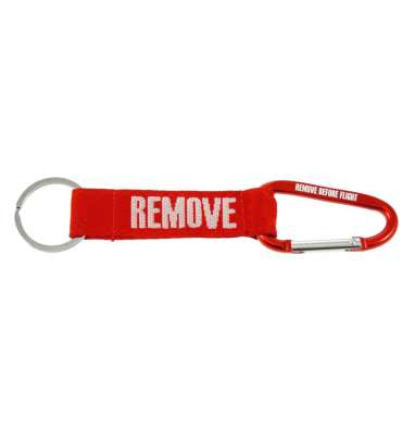 REMOVE BEFORE FLIGHT KEY CHAIN WITH CARABINER