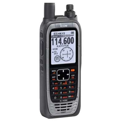 ICOM Aviation Radio Handheld IC-A25NE - NAV & COM Channels, GPS Receiver, Bluetooth