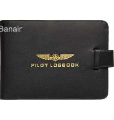 Aircraft Logbook Cover Pilot-Black