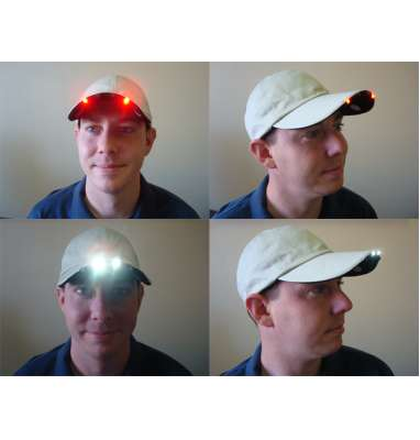 Ball Cap with LED Light in Brim