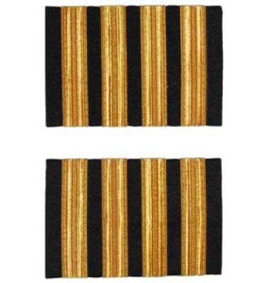Premium Captain Epaulettes - four bars, gold