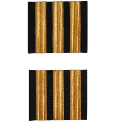 Premium Co-Pilot Epaulettes - three bars, gold