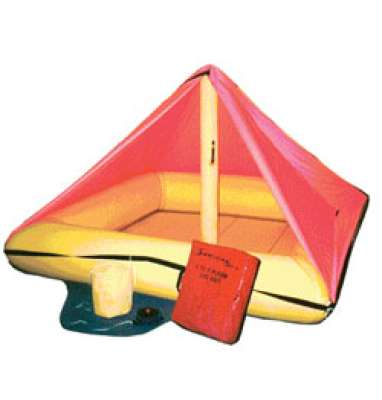Life Raft, 4-6 persons, with Canopy and Survival Kit